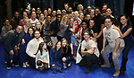 Jeremy Davis with the cast during the Actors' Equity Opening Night Gypsy Robe Ceremony honoring Jeremy Davis for 'Frozen' at the St. James Theatre on March 22, 2018 in New York City.