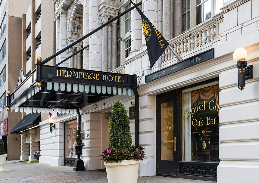 The Hermitage Hotel in downtown Nashville, Tennessee, USA.