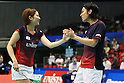 (L to R) Reiko Shiota (JPN), Shintaro Ikeda (JPN), September 21, 2011 - Badminton : YONEX Open Japan 2011, Mixed Doubles  at Tokyo Metropolitan Gymnasium, Tokyo, Japan. (Photo by Daiju Kitamura/AFLO SPORT) [1045]