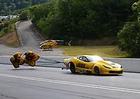Jun 18, 2017; Bristol, TN, USA; NHRA pro mod driver Troy Coughlin Sr during the Thunder Valley Nationals at Bristol Dragway. Mandatory Credit: Mark J. Rebilas-USA TODAY Sports