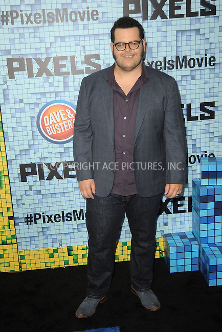 WWW.ACEPIXS.COM<br /> July 18, 2015 New York City<br /> <br /> Josh Gad attending the 'Pixels' Premiere at Regal E-Walk on July 18, 2015 in New York City.<br /> <br /> Please byline: Kristin Callahan/ACE <br /> <br /> <br /> Tel: (646) 769 0430<br /> e-mail: info@acepixs.com<br /> web: http://www.acepixs.com