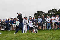 HaoTong Li (CHN) watches his tee shot on 9 during round 1 of the 2019 US Open, Pebble Beach Golf Links, Monterrey, California, USA. 6/13/2019.<br /> Picture: Golffile | Ken Murray<br /> <br /> All photo usage must carry mandatory copyright credit (© Golffile | Ken Murray)