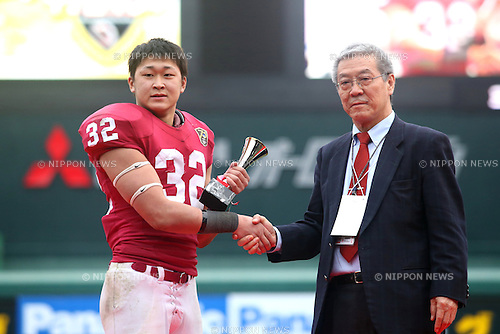 "Nanato Nishimura, DECEMBER 13, 2015 - American Football : All Japan American Football college Championship final match ""Koshien Bowl"" between Waseda University ""Big Bears"" 27 - 28 Ritsumeikan University ""Panthers"" at Koshien Stadium in Hyogo, Japan. (Photo by AFLO)"