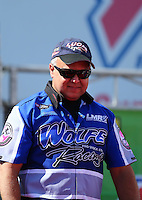 Mar 30, 2014; Las Vegas, NV, USA; NHRA pro stock driver Mark Wolfe during the Summitracing.com Nationals at The Strip at Las Vegas Motor Speedway. Mandatory Credit: Mark J. Rebilas-