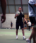 Brendon Leonard. All Blacks team run, 2 June 2007 at 2.30pm match day. ASB Tennis Centre, Auckland, New Zealand.