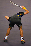 SHANGHAI, CHINA - OCTOBER 16:  Novak Djokovic of Serbia smashes his racket after loosing a point against Guilles Simon of France during day six of 2009 Shanghai ATP Masters 1000 at Qi Zhong Tennis Centre on October 16, 2009 in Shanghai, China. Photo by Victor Fraile / The Power of Sport Images