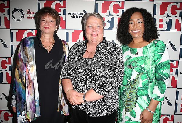 23 September 2017 - Beverly Hills, California - Valerie Jarrett, Lorri L. Jean, Shonda Rhimes. Los Angeles LGBT Center's 48th Anniversary Gala Vanguard Awards held at The Beverly Hilton Hotel. Photo Credit: F. Sadou/AdMedia