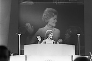 23 Aug 1972, Miami, Florida, USA. Pat Nixon supporting her husband nomination for his reelection as the presidency.