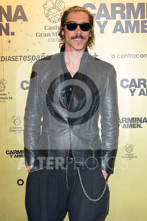 "Spanish  actor Oscar Jaenada attend the Premiere of the movie ""Carmina y Amen"" at the Callao Cinema in Madrid, Spain. April 28, 2014. (ALTERPHOTOS/Carlos Dafonte)"