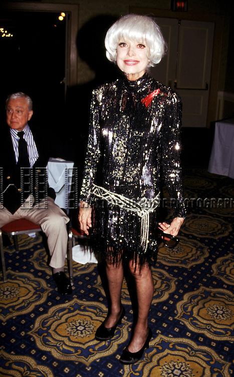 Carol Channing attendsGene Shalit  Pro Celebrity  Billards Classic Multiple Sclerosis Benefit in New York City on<br /> October 12, 1993