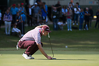 Justin Rose (ENG) in action on the 8th hole during the first round of the 76 Open D'Italia, Olgiata Golf Club, Rome, Rome, Italy. 10/10/19.<br /> Picture Stefano Di Maria / Golffile.ie<br /> <br /> All photo usage must carry mandatory copyright credit (© Golffile | Stefano Di Maria)