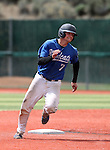 Wildcats' Tim Lichty runs the bases against Utah State University Eastern at Western Nevada College in Carson City, Nev., on Saturday, April 25, 2015. <br /> Photo by Cathleen Allison