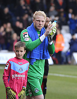 Jonathan Mitchell of Luton Town before the Sky Bet League 2 match between Luton Town and Crawley Town at Kenilworth Road, Luton, England on 12 March 2016. Photo by Liam Smith.