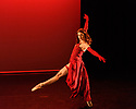 """London, UK. 14.02.2019. Elmhurst Ballet Company present their inaugural performance, """"Origins"""", in the Lilian Baylis Studio at Sadler's Wells Theatre. The piece shown is: Sugar Rum Cherry from the Nutcracker Sweeties, choreographed by David Bintley CBE.  The dancer is: Olivia Duran. Photograph © Jane Hobson."""
