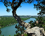 View of Lake Austin from Mt Bonnell