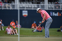 Peter Malnati (USA) watches his putt on 18 during round 4 of the 2019 Houston Open, Golf Club of Houston, Houston, Texas, USA. 10/13/2019.<br /> Picture Ken Murray / Golffile.ie<br /> <br /> All photo usage must carry mandatory copyright credit (© Golffile | Ken Murray)