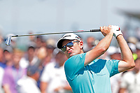 Justin Rose (ENG) tees off on the first hole during the third round of the 118th U.S. Open Championship at Shinnecock Hills Golf Club in Southampton, NY, USA. 16th June 2018.<br /> Picture: Golffile | Brian Spurlock<br /> <br /> <br /> All photo usage must carry mandatory copyright credit (&copy; Golffile | Brian Spurlock)