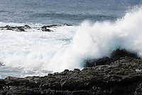 Spain, Canary Islands, La Palma, near Los Canarios Fuencaliente in the south, Punta de Fuencaliente: waves, surf