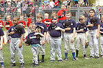 Original League players get anxious during opening day ceremony for  Original League Baseball.