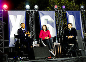 United States President Barack Obama, left, Leonardo DiCaprio, right, and Dr. Katharine Hayhoe, center, have a a panel discussion on climate change as part of the White House South by South Lawn (SXSL) event about the importance of protecting the one planet we've got for future generations, on the South Lawn of the White House, Washington DC, October 3, 2016. <br /> Credit: Aude Guerrucci / Pool via CNP
