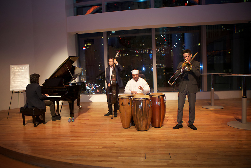 NEW YORK, NY - March, 4, 2017: The JBF Greens hosts a reception for members at Jazz at Lincoln Center ahead of a performance by Eddie Palmieri. <br /> <br /> Credit: Clay Williams for The James Beard Foundation.<br /> <br /> &copy; Clay Williams / http://claywilliamsphoto.com
