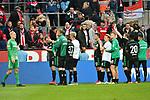 01.12.2018, RheinEnergieStadion, Koeln, GER, 2. FBL, 1.FC Koeln vs. SpVgg Greuther Fürth,<br />  <br /> DFL regulations prohibit any use of photographs as image sequences and/or quasi-video<br /> <br /> im Bild / picture shows: <br /> die Fuerther bedanken sich bei den mitgereisten Fans <br /> <br /> Foto © nordphoto / Meuter