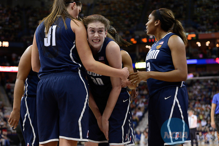 07 APR 2013:  The University of Connecticut takes on the University of Notre Dame during the Division I Women's Basketball Championship in New Orleans, LA.  Jamie Schwaberow/NCAA Photos