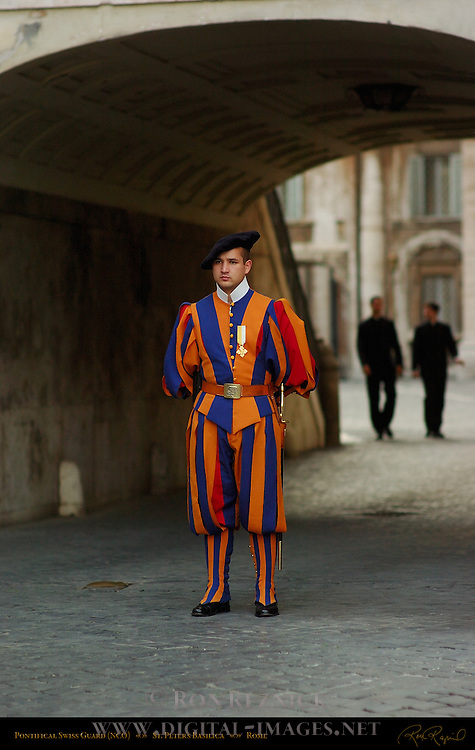 Pontifical Swiss Guard Non-commissioned Officer St Peter's Basilica Rome