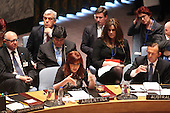 President Cristina Fernández de Kirchner of Argentina makes remarks at the United Nations Security Council summit cracking down on foreign terrorist fighters at the U.N. 69th General Assembly in New York, New York on Wednesday, September 24, 2014.  <br /> Credit: Allan Tannenbaum / Pool via CNP