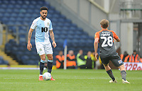 Blackburn Rovers' Derrick Williams under pressure from Swansea City's George Byers<br /> <br /> Photographer Kevin Barnes/CameraSport<br /> <br /> The EFL Sky Bet Championship - Blackburn Rovers v Swansea City - Sunday 5th May 2019 - Ewood Park - Blackburn<br /> <br /> World Copyright © 2019 CameraSport. All rights reserved. 43 Linden Ave. Countesthorpe. Leicester. England. LE8 5PG - Tel: +44 (0) 116 277 4147 - admin@camerasport.com - www.camerasport.com