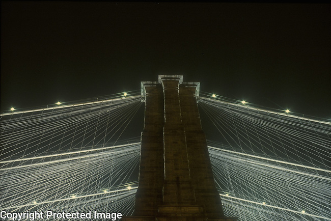 Brooklyn Bridge wires NY Ciba print