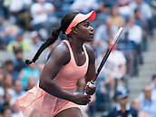 5th September 2017, Flushing Meadowns, New York, USA;  Sloan Stephens (USA) in action during her quarter-final match at the US Open tennis tournament on September 5, 2017, at the USTA Billie Jean King National Tennis Center in Flushing Meadow