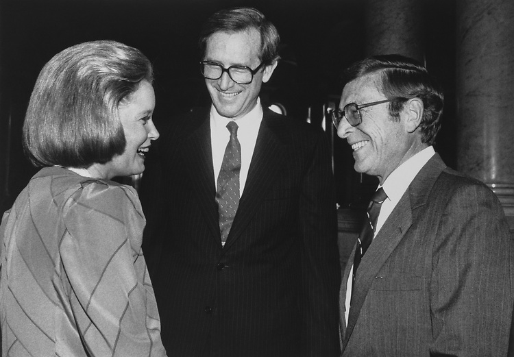 Sen. Jay Rockefeller, D-W.Va., with his wife. (Photo by CQ Roll Call via Getty Images)