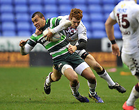 READING, ENGLAND : Jonathan Joseph of London Irish in action during the Amlin Challenge Cup match between London Irish and Bordeaux-Begles at Madejski Stadium on January 18, 2013 in Reading, England.