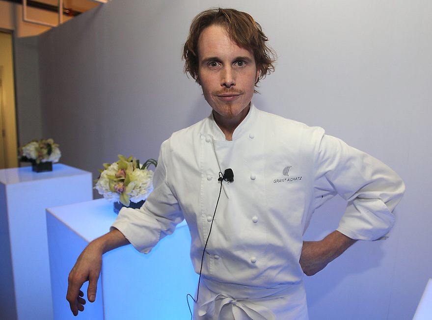 Chef Grant Achatz pose for a photo at a private diner provided bye Absolut Vodka at a private location on Nov 12, 2010. ( For Pernod Ricard)