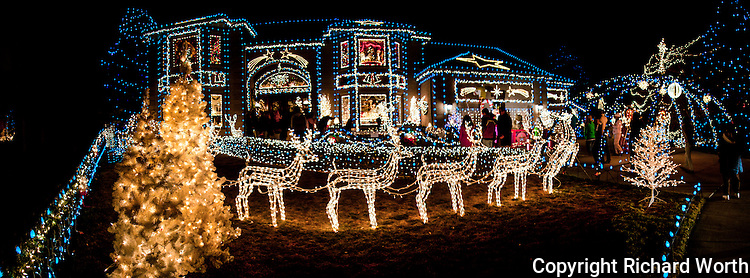 "This house on Tincup Circle in Broomfield, Colorado, gets decked out every Christmas; a tradition that has lasted the past couple decades.  We also have a ""Tincup Circle Christmas Lights"" gallery with additional images."
