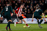 Oliver McBurnie of Sheffield United runs with the ball during the Premier League match at Bramall Lane, Sheffield. Picture date: 5th December 2019. Picture credit should read: James Wilson/Sportimage
