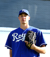 Keaton Hayenga / Kansas City Royals 2008 Instructional League..Photo by:  Bill Mitchell/Four Seam Images