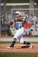 Brandon Howlett  (24) hits a home run while playing for 5 Star National based out of Warner Robins, Georgia during the WWBA World Championship at the Roger Dean Complex on October 19, 2017 in Jupiter, Florida.  Brandon Howlett is a third baseman / shortstop from Lakeland, Florida who attends George W. Jenkins High School.  (Mike Janes/Four Seam Images)