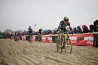 Sven Nys (BEL/Crelan-AAdrinks) plowing through the sand<br /> <br /> Noordzeecross - Middelkerke 2016