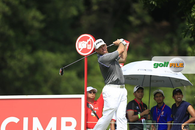Lee Westwood (ENG) on the 7th tee during Round 2 of the CIMB Classic in the Kuala Lumpur Golf &amp; Country Club on Friday 31st October 2014.<br /> Picture:  Thos Caffrey / www.golffile.ie