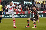 08.02.2019, RheinEnergieStadion, Koeln, GER, 2. FBL, 1.FC Koeln vs. FC St. Pauli,<br />  <br /> DFL regulations prohibit any use of photographs as image sequences and/or quasi-video<br /> <br /> im Bild / picture shows: <br /> Dominick Drexler (FC Koeln #24), im Zweikampf gegen  Christopher Buchtmann (St Pauli #10), <br /> <br /> Foto © nordphoto / Meuter