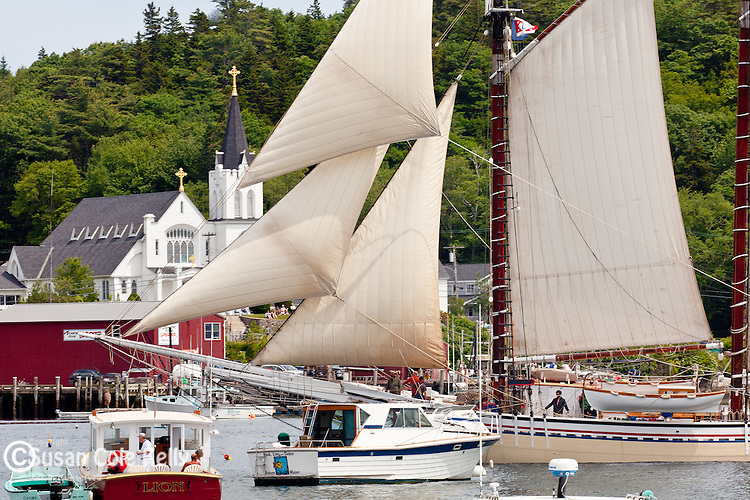 Tall Ship Heritage at the Boothbay Windjammer Festival, Boothbay, ME, USA