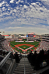 13 April 2009: The Washington Nationals and fans honor America during Opening Ceremonies prior to a game against the Philadelphia Phillies at the Nats' Home Opener at Nationals Park in Washington, DC. The Nats fell short in their 9th inning rally, losing 9-8, and marking their 7th consecutive loss of the 2009 season. Mandatory Credit: Ed Wolfstein Photo
