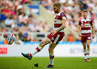 Wigan Warriors' Sam Tomkins kicks a conversion<br /> <br /> Photographer Alex Dodd/CameraSport<br /> <br /> Betfred Super League Round 15 - Magic Weekend - Wigan Warriors v Warrington Wolves - Saturday 19th May 2018 - St James' Park - Newcastle<br /> <br /> World Copyright &copy; 2018 CameraSport. All rights reserved. 43 Linden Ave. Countesthorpe. Leicester. England. LE8 5PG - Tel: +44 (0) 116 277 4147 - admin@camerasport.com - www.camerasport.com