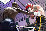 Daniel Mendes vs Jan Hrazdira 6x3 - Cruiserweight Contest During Goodwin Boxing - Date With Destiny. Photo by: Simon Downing.<br /> <br /> Saturday September 23rd 2017 - York Hall, Bethnal Green, London, United Kingdom.