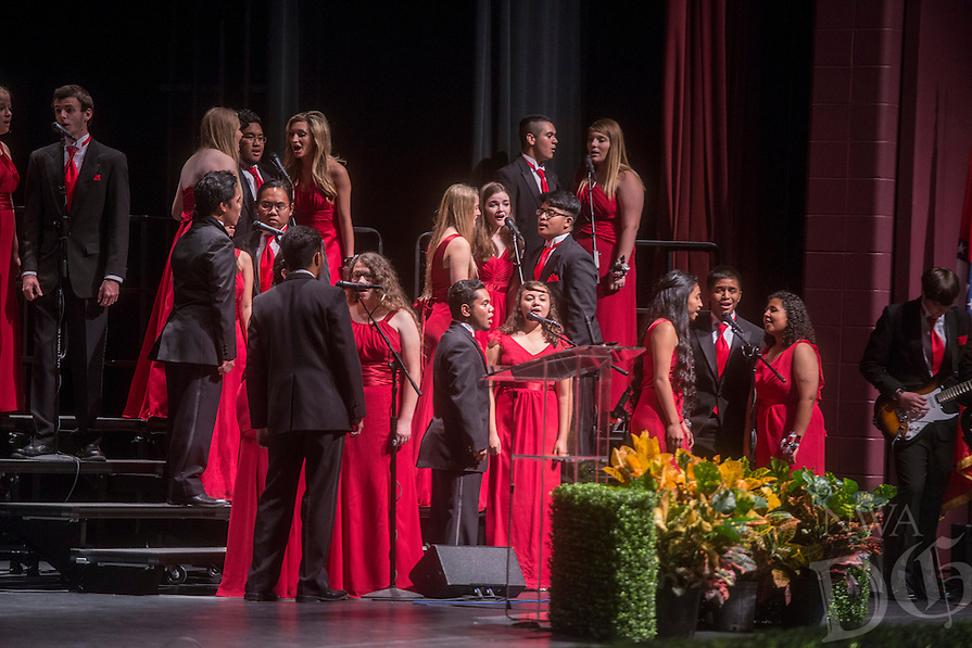 NWA Democrat-Gazette/ANTHONY REYES &bull; @NWATONYR<br /> The Springdale High School homecoming celebration Friday, Oct. 23, 2015 in the Pat Walker Theater in the Springdale Performing Arts Center in Springdale. The theme for this year's homecoming is &quot;An Enchanted Evening&quot; with the dance tonight (Saturday).