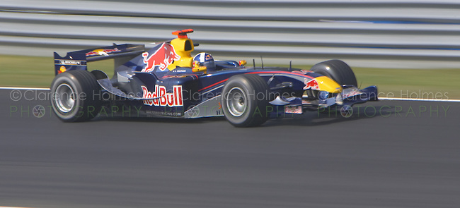 MONTREAL - JUNE 11: David Coulthard of Red Bull Racing running at speed during Saturday practice for the  Canadian F1 Grand Prix at the Circuit Gilles-Villeneuve June 11, 2005 in Montreal, Canada.
