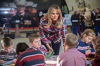 DEC 11 First Lady Melania Trump at Toys for Tots