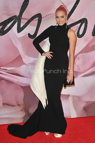 Amber Le Bon at the Fashion Awards 2016, Royal Albert Hall, Kensington Gore, London, England, UK, on Monday 05 December 2016. <br /> CAP/CAN<br /> ©CAN/Capital Pictures /MediaPunch ***NORTH AND SOUTH AMERICAS ONLY***